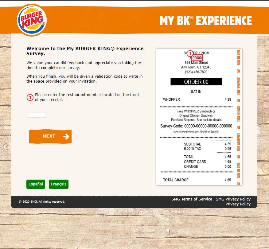 www.myBKExperience.com - Free Whopper or Chicken Sandwich